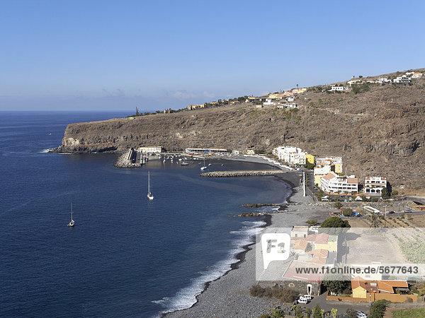 Playa de Santiago  La Gomera  Canary Islands  Spain  Europe  PublicGround