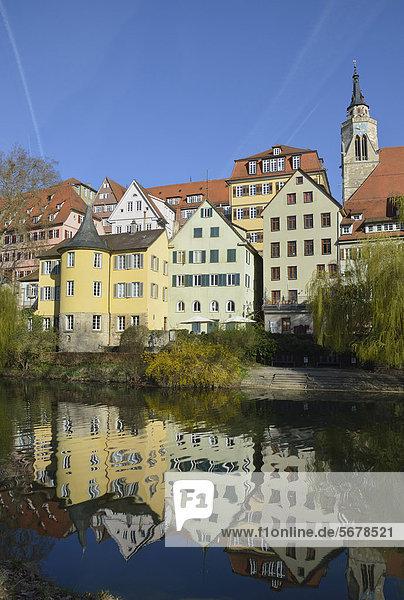 Europa Fluss Baden-Württemberg Deutschland Tübingen
