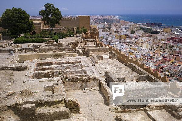 Alcazaba Festung  Almeria  Andalusien  Spanien  Europa
