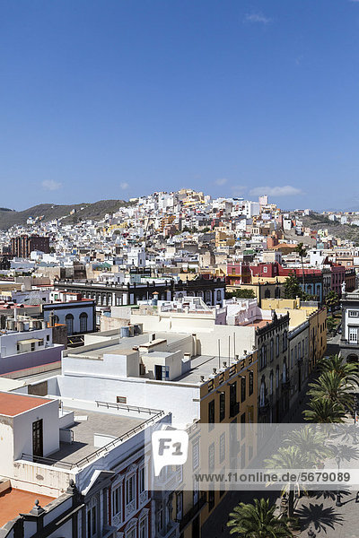 Colourful nested houses  San Juan district  Las Palmas de Gran Canaria  Gran Canaria  Canary Islands  Spain  Europe