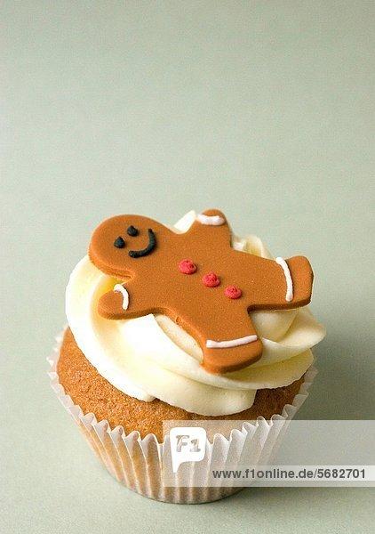 Mann  Dekoration  Lebkuchen  3  Gewürzvanille  Vanille  Zuckerguß  cupcake
