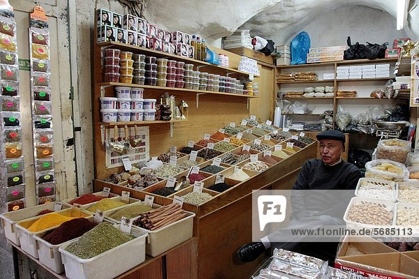 Israel  City of Jerusalem  The souks arabic market in the palestinian east old city