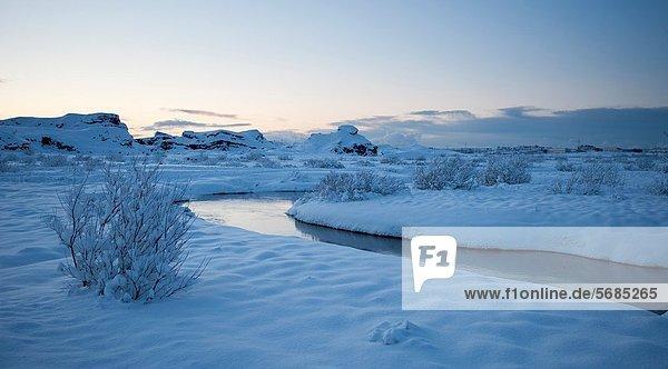 Island  Winterlandschaft