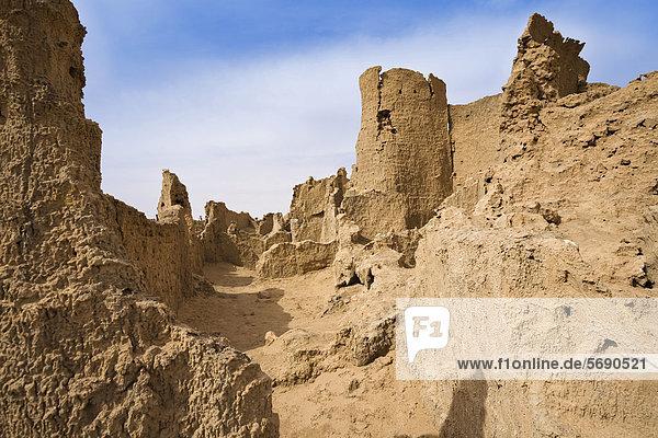 Ruinen von Germa  mittelalterliche Hauptstadt der Garamanten  Libyen  Sahara  Nordafrika Ruinen von Germa, mittelalterliche Hauptstadt der Garamanten, Libyen, Sahara, Nordafrika