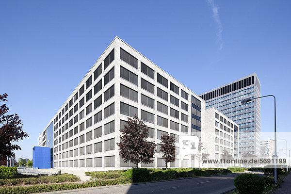 Bürogebäude Campus-CarrÈ  Bürostadt Niederrad  Frankfurt am Main  Hessen  Deutschland  Europa  ÖffentlicherGrund