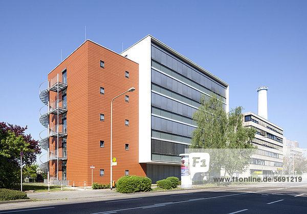 Bürogebäude Lyoner Straße  Bürostadt Niederrad  Frankfurt am Main  Hessen  Deutschland  Europa  ÖffentlicherGrund