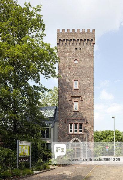 Ehemaliger Wasserturm der Villa Grüneburg  Frankfurt am Main  Hessen  Deutschland  Europa  ÖffentlicherGrund