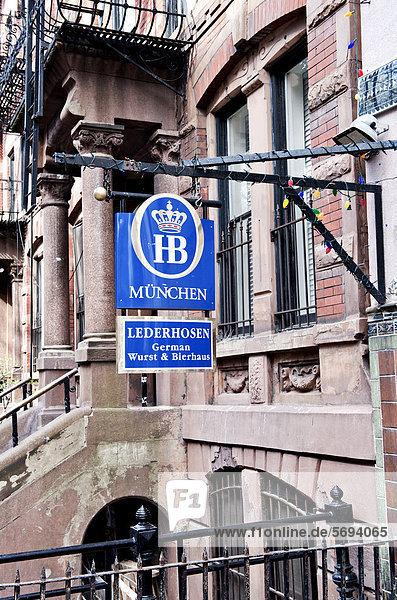 Deutsche Kneipe in Greenwich Village  Manhattan  New York City  New York  Vereinigte Staaten von Amerika  USA