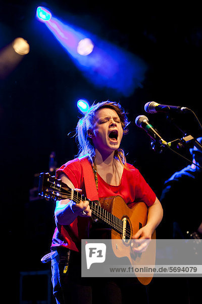 The Irish singer-songwriter and musician Wallis Bird performing live at the Schueuer  Lucerne  Switzerland  Europe