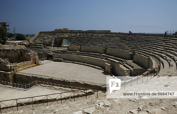 Roman amphitheater in Tarragona  Catalonia  Spain  Europe