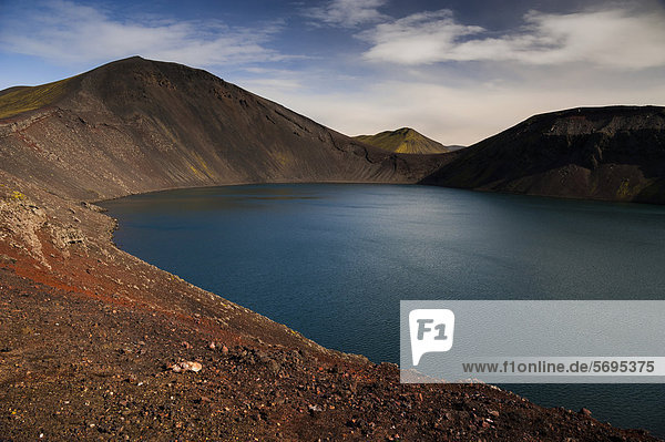 Kratersee Hnausapollur  Landmannalaugar  Fjallabak Naturschutzgebiet  Hochland  Island  Europa