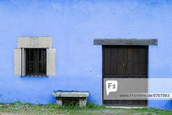 leer Gebäude Geschichte Dorf Kunst befestigen Extremadura Stausee Spanien
