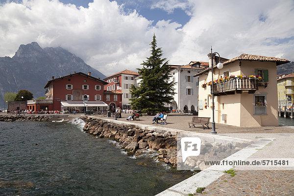 Buildings and Customs House on the shore of Lake Garda  Torbole  Trentino-Alto Adige  Italy  Europe  PublicGround