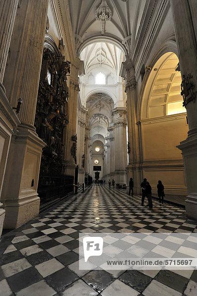 Santa Maria de la EncarnaciÛn  Kathedrale von Granada  Innenansicht  Granada  Andalusien  Spanien  Europa