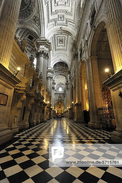 Innenansicht  Catedral de JaÈn  Kathedrale von JaÈn aus dem 13. Jahrhundert  Renaissance  JaÈn  Andalusien  Spanien  Europa