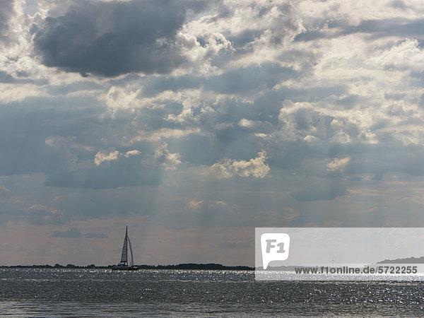 Deutschland  Segelboot in der Ostsee auf der Insel Rugen