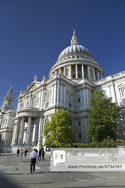 St. Paul's Cathedral  eine Kathedrale in London  England  Großbritannien  Europa