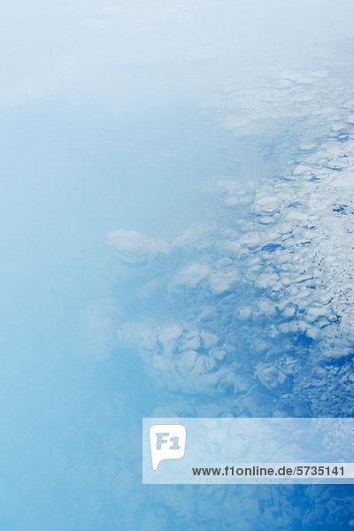 Kieselerdelagerstätten in der Blauen Lagune  Halbinsel Reykjanes  Island