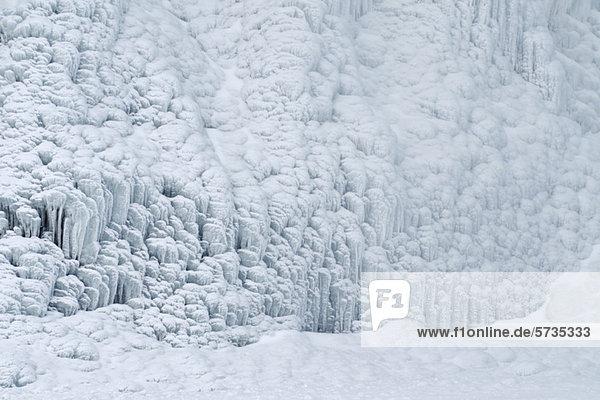 Gefrorener Wasserfall  Skogafoss  Skogar  Island