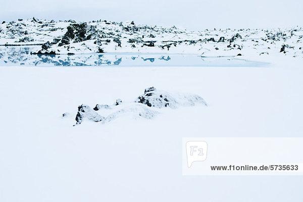 Island  Reykjanes Halbinsel  Blue Lagoon Geothermal Spa