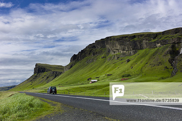 Straße durch die Landschaft  Island