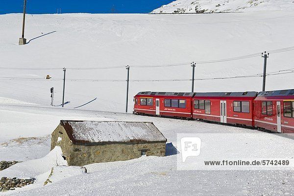 Bernina pass  Bernina express  Schweiz