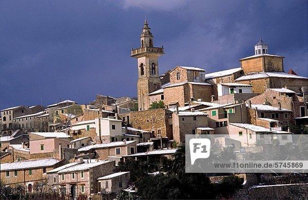 Parish Church of Sant Bartomeu  Valldemossa  Serra de Tramuntana  Majorca  Balearic Islands  Spain