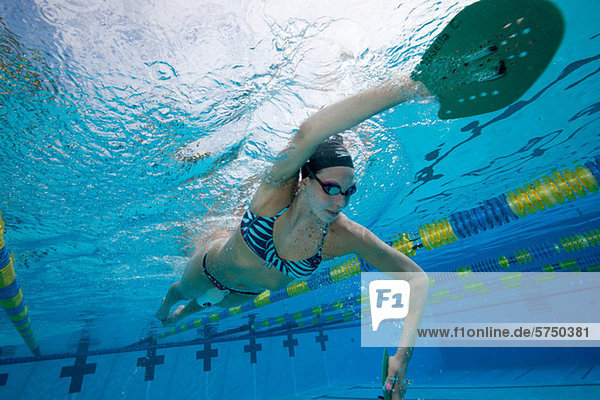 Olympische Hoffnung im Training
