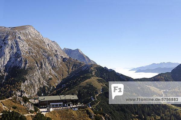 Europa Berg Dunst Tal Ansicht Bayern Deutschland Oberbayern