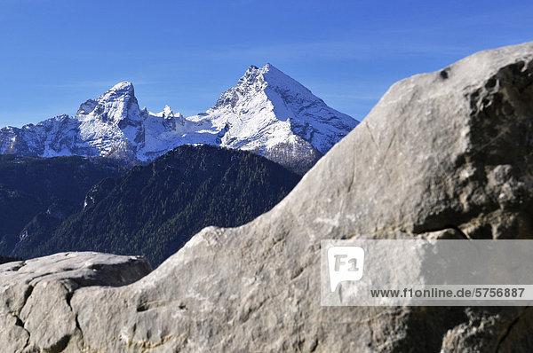Watzmann  Watzmann-Frau und Watzmann-Kinder  Berchtesgadener Land  Oberbayern  Bayern  Deutschland  Europa