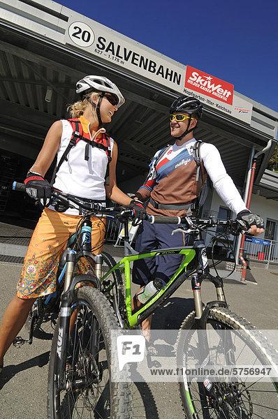 Mountainbikefahrer Kitzbüheler Alpen