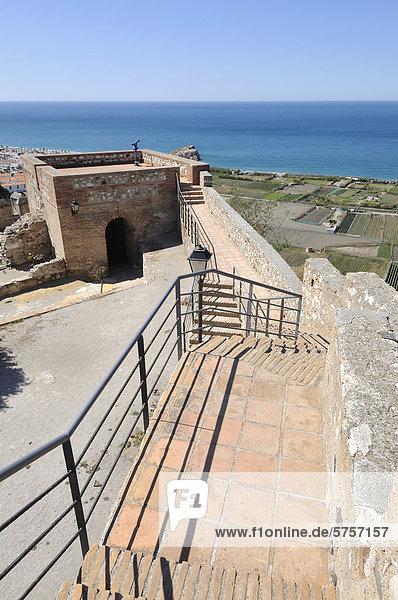 Castillo Arabe  Moorish castle  Salobrena  Granada Province  Andalusia  Spain  Europe