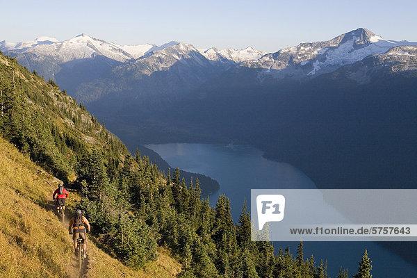 Mountainbiken in Whistler Britisch-Kolumbien  Kanada.