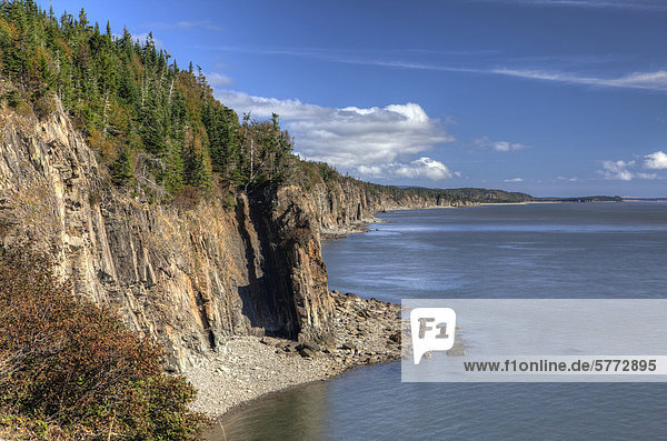 Cape Wutanfall  Bucht von Fundy  Atlantik  New Brunswick  Kanada