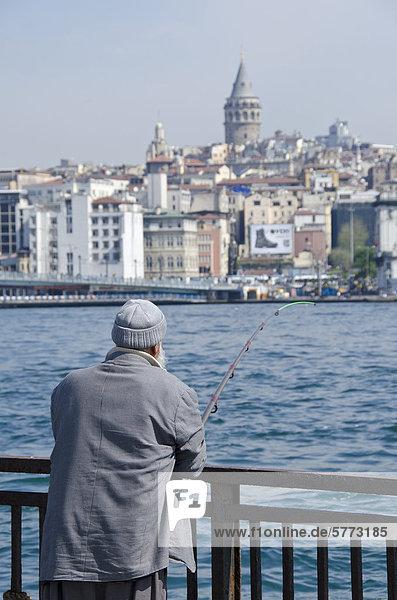 Ortsteil Fischer Goldenes Horn Istanbul Türkei