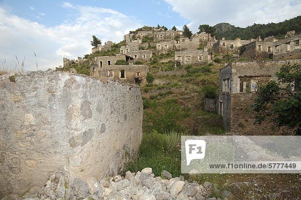 Die griechische Geisterstadt Levissi  Kayaköy  vormals Karmylassos  Türkei