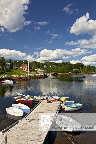hoch oben klein Boot Dock binden Kanada Nova Scotia Neuschottland