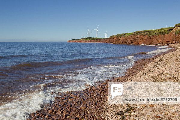 Windturbine Windrad Windräder Prüfung Wind Norwegen Kanada Nordkapp Prince Edward Island