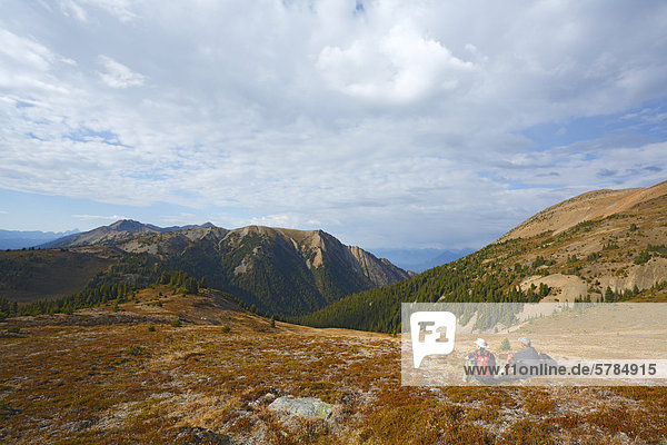 Hiking in the Purcell Mountains south of Golden  BC