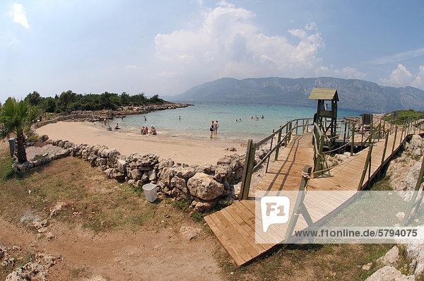 Cleopatra beach  Cleopatra island  Aegean Sea  Turkey
