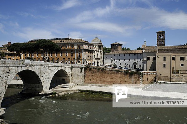 Tiberinsel  Rom  Italien  Europa