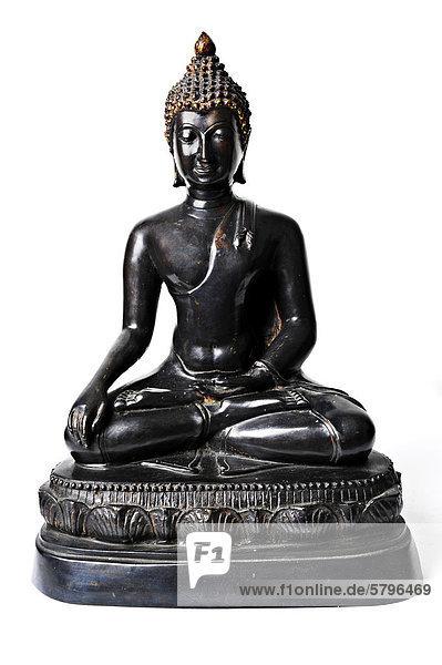 Bronze-Buddha aus Thailand  Asien Bronze-Buddha aus Thailand, Asien
