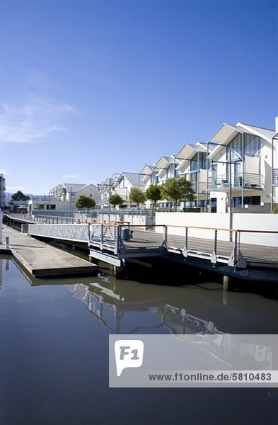 Gebäude Boot Dock Nachbarschaft Australien Linie Tasmanien