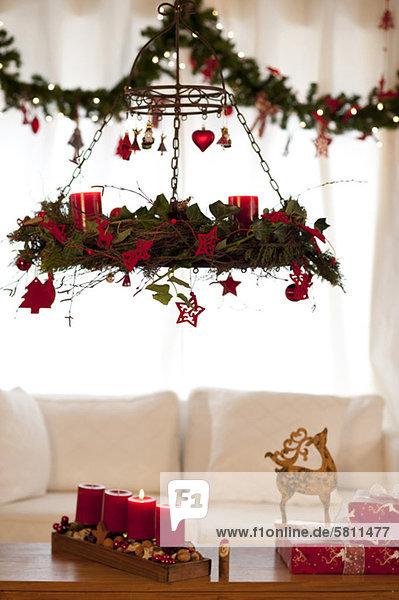 Zimmer Weihnachten Dekoration Wohnzimmer