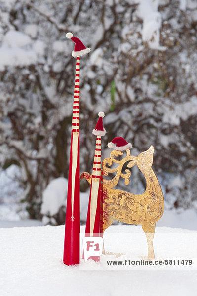 Weihnachten Dekoration Schnee