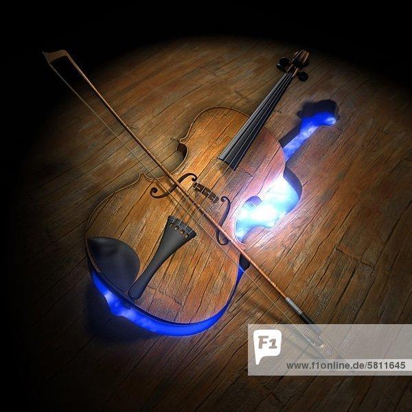 Boden Fußboden Fußböden Illustration verlassen Geige