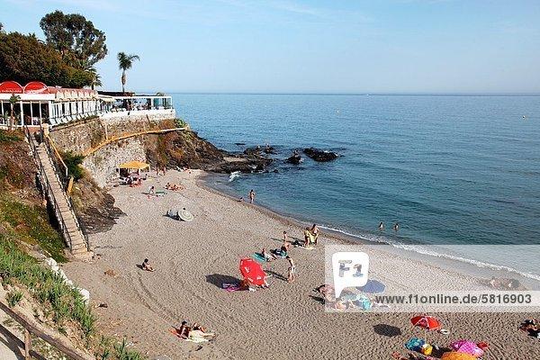 The Pier Restaurant on the beach  Benalmadena  Malaga  Andalucia  Spain