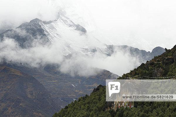 Kongde Ri-Gebirge in Nepal