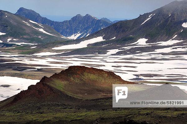 Gorelyi Vulkan Caldera von Kamtschatka