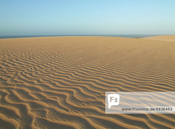 Ripples in sand dunes